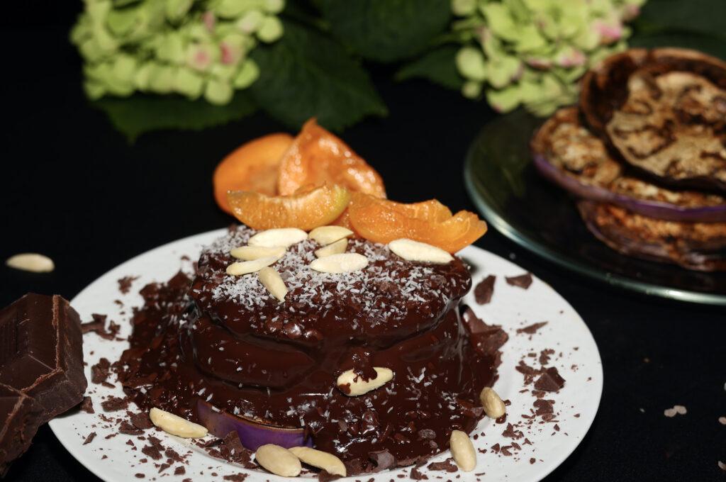 Torrette di melanzane al cioccolato